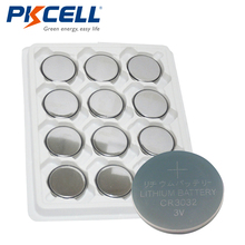 12pcs/tray PKCELL CR3032 BR3032 DL3032 ECR3032 LM3032 3032 KCR3032 3V Lithium Coin Cell Battery(China)