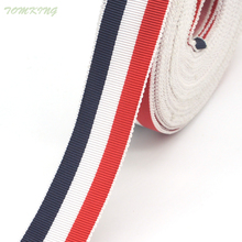 High quality 5yd/lot fashion cotton bud edge flag color grosgrain ribbon Decorative lace ribbon for gift crafts accessories DIY