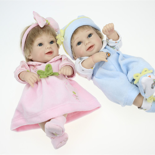 High Quality 28cm Reborn Baby Dolls Twins Lifelike Reborn Baby Girl Doll Two Pcs a Set The Gifts For Childrens Day<br><br>Aliexpress