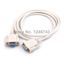 1Pcs High Quality 1.5M Serial RS232 9 Pin Female To Female DB9 9 Pin COM Port Converter Connector Adapter Extension Cable for PC