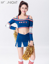 MOONIGHT Cheerleading Glee Cheerleader Costume Aerobics Clothing Uniforms for Performances Halloween Costume S M L XL 2XL(China)
