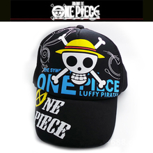 Top Anime One Piece Luffy Pirate Skull Head Logo Cotton Baseball cap adjustable Sun Hat Christmas Cosplay Gift