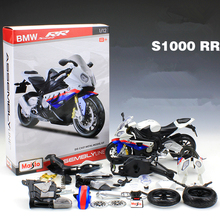 1:12 Maisto Assembled Motorcycle Toy, Diecast & ABS S1000RR Motorbike Models, Adult DIY Assembly Kit, Kids Toys, Brinquedos