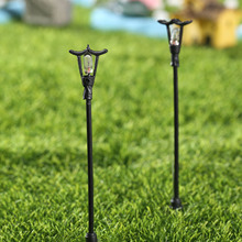 5pcs Micro Landscape Bonsai Plant resin craft Garden Decor Stakes DIY Craft Decor Ornament Waves Single Lamp Light