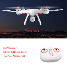 Syma X8SC RC Plane RTF 2.4GHz 4CH 6-axis Gyro Drones With Camera HD Professional Wifi One Key Taking Off Helicopter(China)