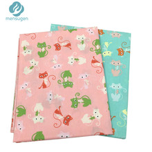 50cm*160cm Cute Cats Printed Cotton Fabric Telas for Sewing Baby Crib Bumpers Cushions Pillows Bedding Sheet Patchwork Quilting