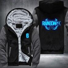 Dropshipping Rainbow Six Siege Winter Coat Game Cosplay Men Hoodies Thicken Coat Fleece Sweatshirts Cotton Jacket