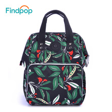Findpop Large Capacity Women Backpack 2018 New Multifunction Green Backpacks Bags For Women Waterproof Canvas Backpacks Mochilas(China)
