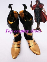 Freeshipping custom-made anime Final Fantasy VII Vincent Valentine Cosplay Show Boots shoes for Halloween Christmas festival