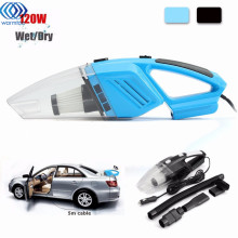 Mini 12V 120W Hand Held Wet Dry Bagless Car Auto Vacuum Cleaner multifunction Powerful Suction Rechargeable Dust Buster(China)