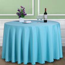 Solid Color 100% Polyester Round Table Cover Fabric Square Dining Table Cloth Tablecloth Hotel Office Wedding Booth setting(China)