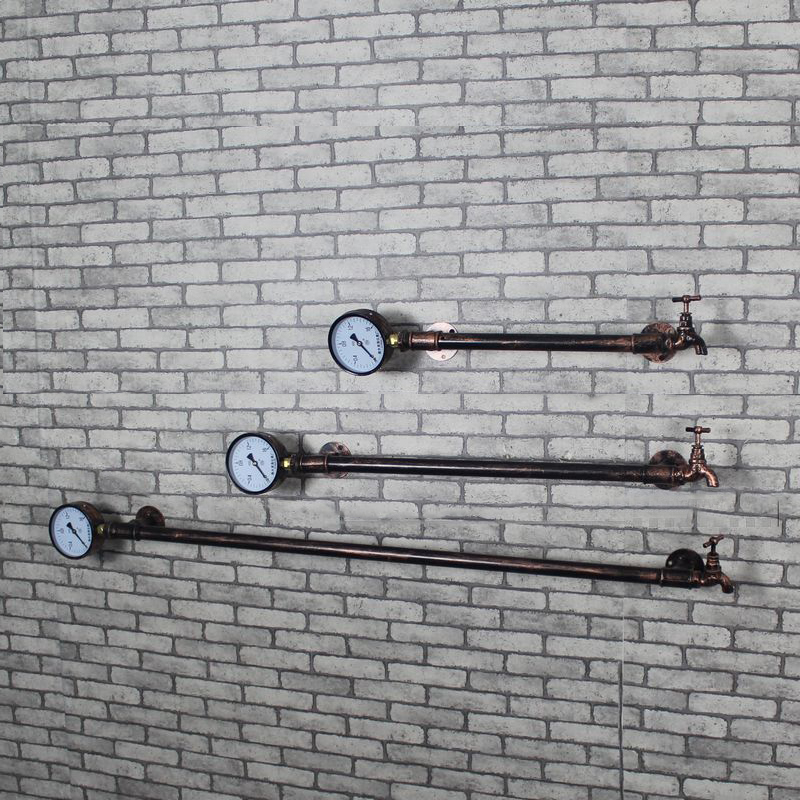 Creative Shelving Racks Pipe Coat  Racks Iron Coat  Rack Clothing Pipe Wall Retro Fashion to do the Old Wall Hanging Shelf Z13<br>