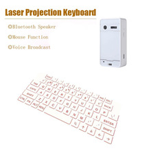 4 In 1 Wireless Bluetooth Virtual Laser Projection Keyboard Multifunctional Keyboard For iPad iPhone Android iOS Tablet PC White(China)