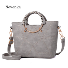 Nevenka Fashion Women Bag Brand Name Tote Pu Leather Handbags Casual Crossbody Bag Ladies Style Evening Bags Zipper Fresh Sac(China)