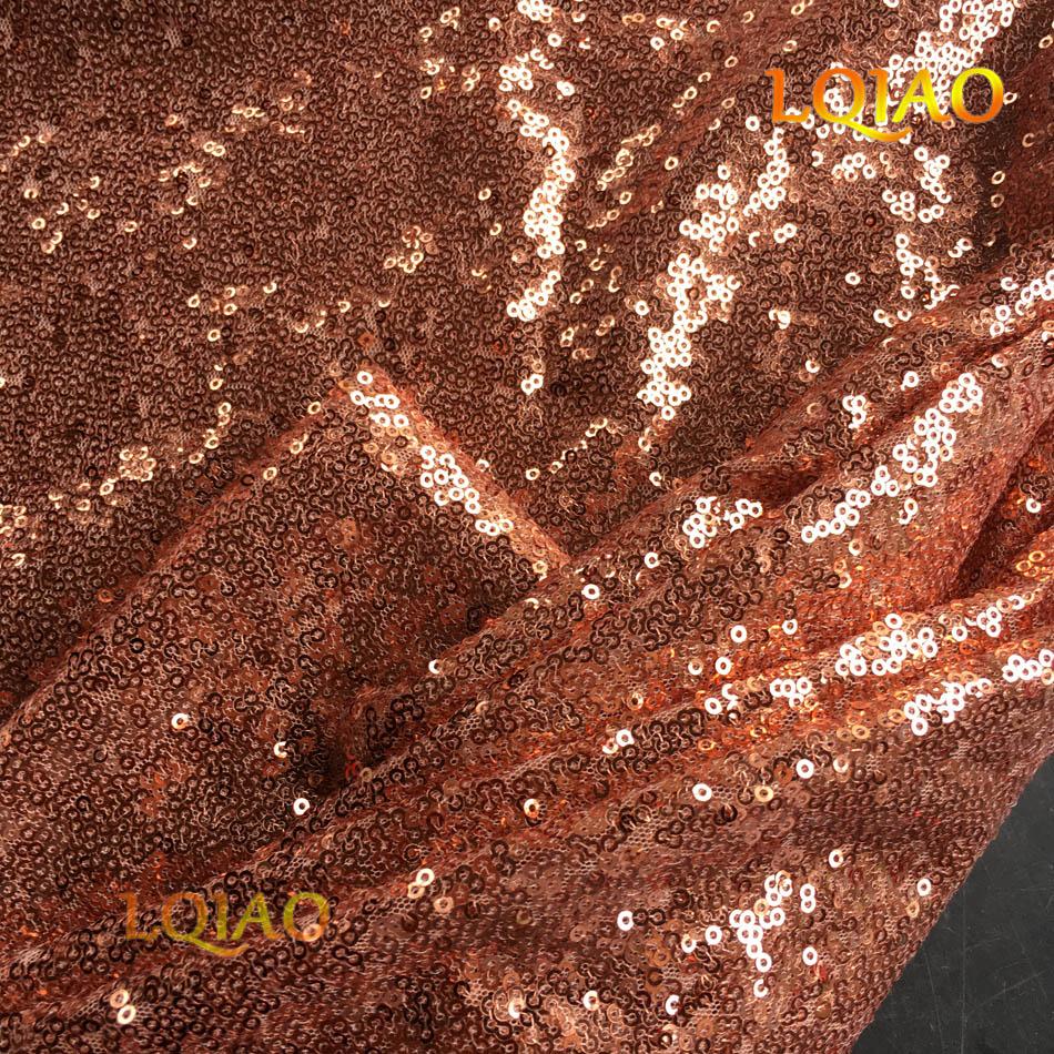 Rose Gold Sequin Fabric-002