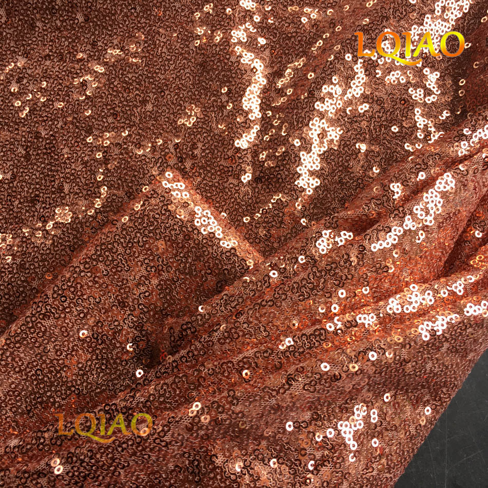 Rose Gold Sequin Fabric-002