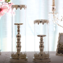 ROSE QUEEN glass cover candle holder candle stick for wedding party event festival home decoration(China)