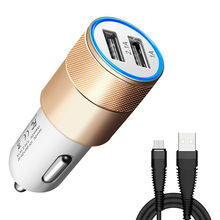 Buy 5V/2.1A Car Charger Mobile Phone Dual Usb Car Charger Fast Charging Adapter Mini Universal Car Charger ios Android for $1.09 in AliExpress store