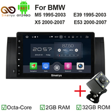 "1024*600 Octa Core 9"" Android 6.0 Car Radio Audio DVD GPS for BMW M5 E39 X5 E53 With 2GB RAM Bluetooth 4G WIFI 32GB ROM DVR OBD(China)"