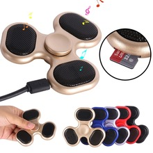 Hot Bluetooth Music Finger Fidget Spinner Hand ABS Mini Gyro Children Cool Popular Spinners Gift Mini Toys 5 Colors