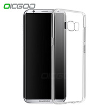 OICGOO Silicone Transparent Case For Samsung Galaxy S7 Edge S6 Edge Clear Ultra Thin Soft TPU Cover For Samsung S8 S8 PLUS Case(China)