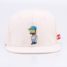 Unisex Women Men Candy Color Embroider Cartoon Simpson Baseball Cap Outdoor Snapback Hip Hop Hat (5 color)(China)