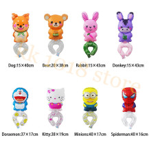 5pcs Cute Animals Wrist Bracelet Bangle Balloon Children's Kid's Party Birthday Gift Baby Wrist Foil Balloons Party Decoration