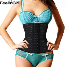 FeelinGirl 2016 Summer 4 steel bone Air Hole Waist Tummy Cincher Breathable Body Shapewear Belt Corset Cincher Trainer Girdle -E(China)