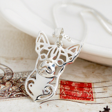 Chihuahua Dog Necklace Pet Lover Pendant Jewelry Dropshipping Silver Girl Gift Dog Necklaces 1pc