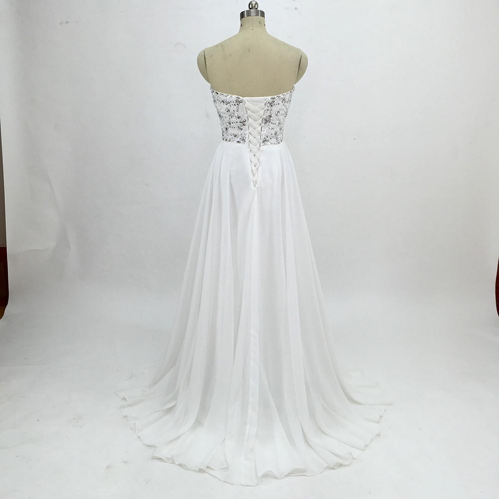Sexy Chiffon A Line Beach Wedding Dresses Vintage Boho Cheap Bridal Gowns Vestidos De Novia Robe De Mariage Bridal Gown in stock 16
