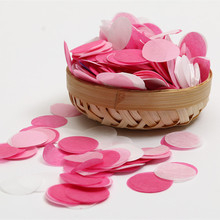 30g/Bag 1 inch(2.5cm) Bright Colors Mixed Pink White Round Tissue Paper Confetti Wedding Party Table Decorations