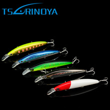 Tsurinoya 5Colors 11cm 20.5g Minnow Fishing Lure Hard Bass Fishing Tackle with Hook Spinner Bait Peche Minnow Lure(China)