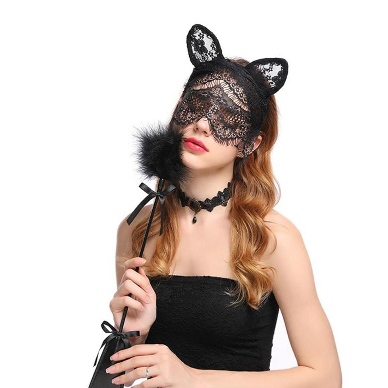 Apparel Accessories Sexy Masquerade Mask Party For Halloween Party Flower Hairbands Veil Decor Hair Accessory Lace Hat Lady Lace Face Veil Decor