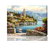 Home Decoration 30X40CM  Picture Paint on Canvas DIY Digital Oil Painting Paint by Numbers Drawing Coloring  Mediterranean