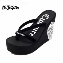 Buy 2018 New Arrival Shoes Woman Summer Flip Flops Super High Heel Wedges Platform Women Slippers Ladies Designer Flip Flops 40 for $18.50 in AliExpress store