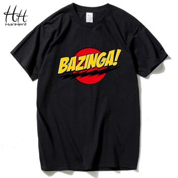 HanHent The Big Bang Theory T-shirt Impressão Sheldon BAZINGA 2016-Algodão de manga Curta Casual T camisa Estilo Verão Cooper Homens Tshirt