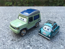 KK01--Pixar Car Movie 2 1:55 Metal Diecast Miles Axlerod & Professor Z 2pcs Set Toy Cars New Loose