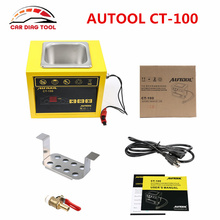 AUTOOL CT-100 MINI Fuel Injector Cleaner Tester CT100 Gasoline Car Motocycle 110V/220V Auto Ultrasonic Injector Cleaning Tool