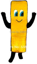 Fast Food Advertising Mascot French Fry Mascot Costume Cartoon Character Party Carnival Plush Mascotte Kit Suit Free Ship SW895