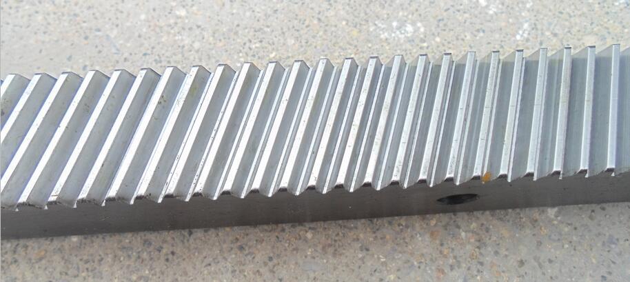 1.25mod harden cnc rack  helical rack spur rack  22*25*1400mm Oblique teeth spur gear right helical rack<br>