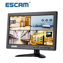 Escam 10 inch TFT HD LCD Monitor for Security Camera CCTV Monitor PC Monitor Multi-language PAL/NTSC System Support Audio Input
