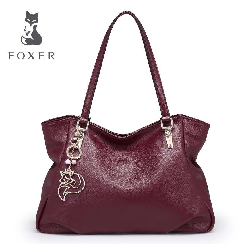 FOXER 2017  New women handbags famous brands quality fashion Casual women leather bag women real leather shoulder bag<br><br>Aliexpress