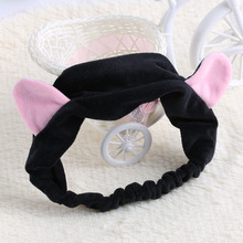 1 PCS Cute Womens Girls Cute Cat Ears Headband Hairband Hair Head Band Party Gift Headdress Hair Accessories Makeup Tool(China)