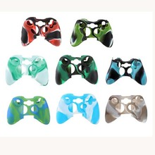50/Lot Camouflage Soft Silicone Protective Skin Case Cover For Xbox 360 Game Controller