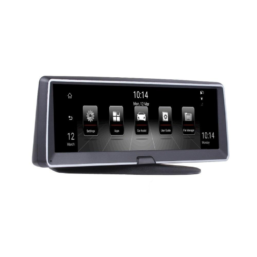 """Trasera Panel de control de Cámara en Tablero Coche Cámara FHD 1080P Doble Lente Dvr Grabadora 16G 4/"""" Frontal"""