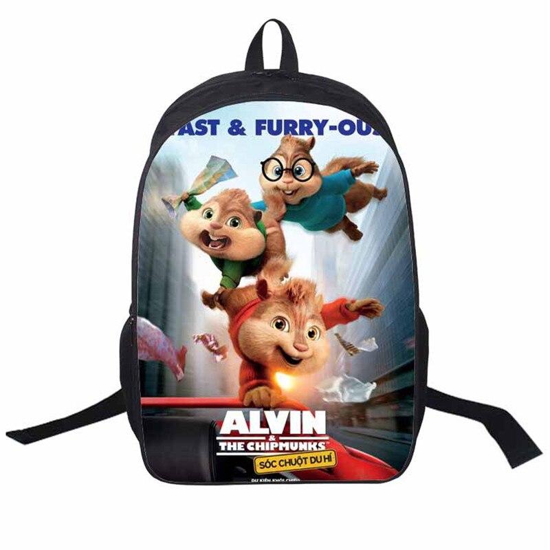 Hot Sales Uinsex Modish Character Chipmunk Cartoon Backpack Child Xmas Gifts Pupil Satchels Children School Bag Solf Bag<br><br>Aliexpress
