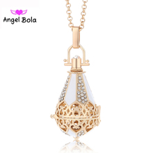 Angel Ball Drop 20.5mm Perfume Essential Oil Cage Pendant Women Aromatherapy Box Necklace Pendant Jewelry L077 Free Shipping