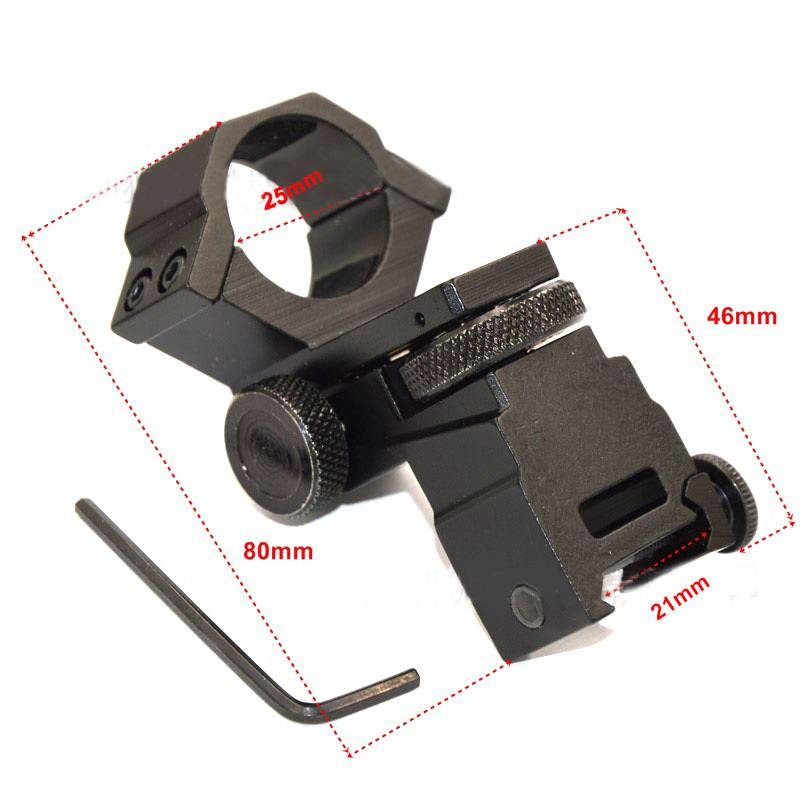 25.4mm Diameter Ring Tactical Laser Sight Flashlight Rifle Scope Mount Adjustable Elevation Windage for 21mm Rail System<br><br>Aliexpress