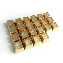 Mechanical keyboard personality Metal keyboard keys and DOTA cynosa  Cherry or keycaops