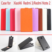 For Xiaomi Redmi 3/Note 2 Phone Case Pure Color [Up-down Open] Vertical Flip Premium PU Leather Wallet Case Cover Factory Price(China)